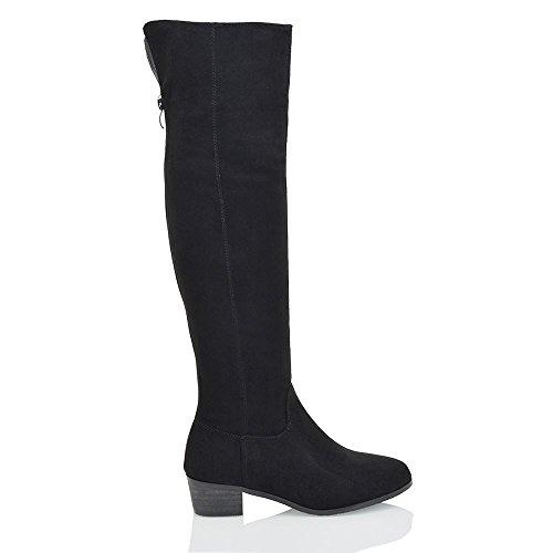 Black Biker Style Boots - 8