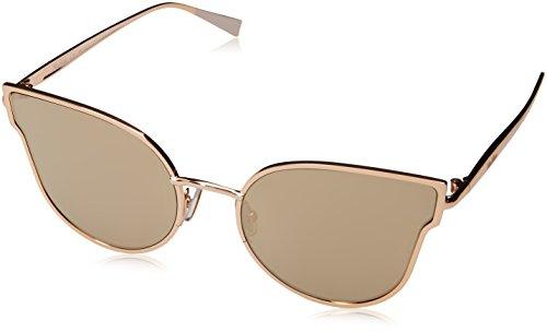 Max Mara Metal Cat Eye/Butterfly Sunglasses 57 0000 Rose Gold (UE gray ivory mirror - Maxmara Sunglass