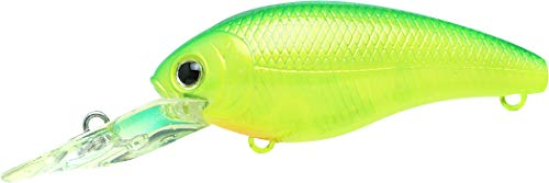 - Lucky Craft Moonsault CB-200 Medium Shallow Diving Crankbait - Lime Chart