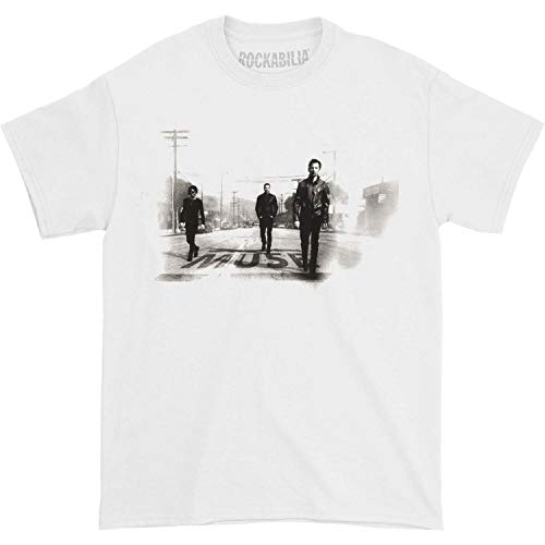 Muse Men's Street Walking North American Tour T-shirt Medium White