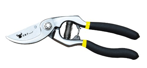 "G & F 11108 Classic Cut Forged Bypass Pruning Shears, Garden Pruner Shears 1.25"" Cut"