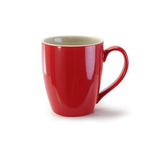 BIA Cordon Bleu 15 ounce Red Coffee Mugs -Set of 4