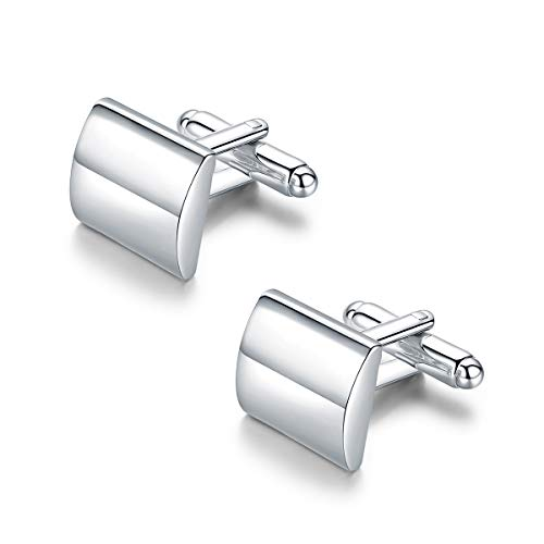 Pinannie Silver Plated Best Men Cufflinks Shirt Cuff Links