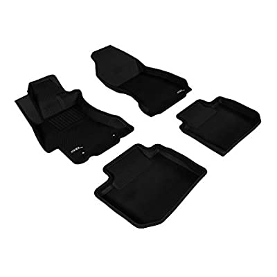 3D MAXpider L1SB02001509 Black All-Weather Floor Mat for Select Subaru WRY STI Models Complete Set: Automotive