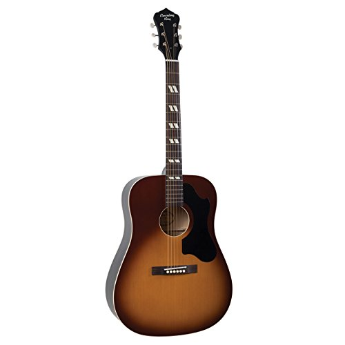 Recording King RDS-7-TS Dirty 30's Series 7 Dreadnought Acoustic Guitar, Tobacco Sunburst