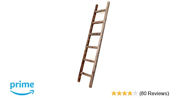 Amazon Com Barnwoodusa Rustic Farmhouse Decorative Ladder Our 6 Ft Ladder Can Be Mounted Horizontally Or Vertically And Is Crafted From 100 Recycled And