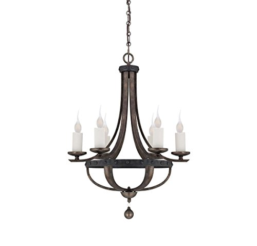 Savoy House 1-9530-6-196, Alsace 6-Light Chandelier, Reclaimed Wood -