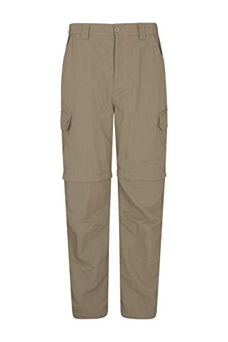 Mountain Warehouse Trek Mens Convertible Trouser -Spring Hiking Pants Dark Beige 38