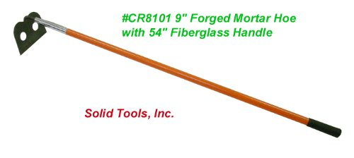 9'' Mortar Hoe with Fiberglass Handle