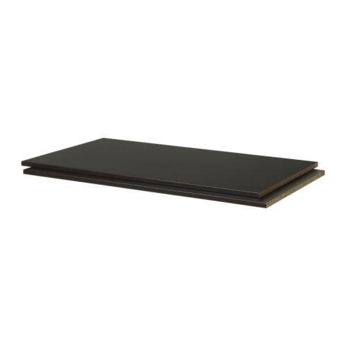 Ikea Pax Plateau Noir Brun Paquet 2 100x58 Cm Amazon