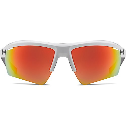 Under Armour Grip Cap - Under Armour Eyewear Core 2.0 Sunglasses (Shiny White-Gray Temples/Gray Orange