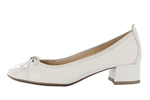Pumps kleine Absatz Hispanitas Adele Kaffir-V7 white weiß Leder/Lackleder