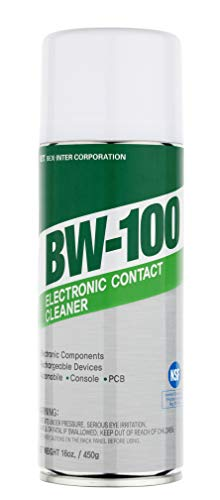 - BW-100 Nonflammable Electronic Contact Cleaner aerosol Spray HFOs Quick Dry Upsidedown usable (16oz.)