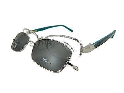 Calvin Klein CK CK5290Mag-Set Eyeglasses CK5290MAG-SET 045 Silver Demo 50 17 135