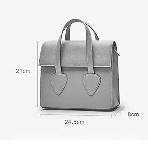 Luz Messenger Bag Minority Square Prpura Cat Design Retro nicho Design The Gray Color Ear Tote ZwOqTv