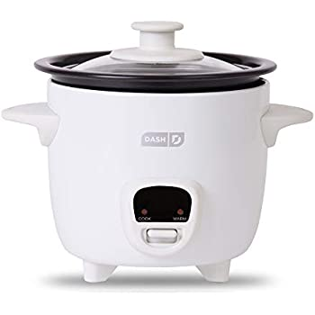 Amazon.com: Dash DRCM200GBWH04 Mini Rice Cooker Steamer