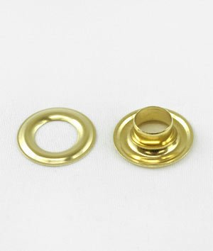 C.S. Osborne Brass Grommets & Washers #G1-3 Size 3 (7/16 Hole) 144 Sets by C.S. Osborne