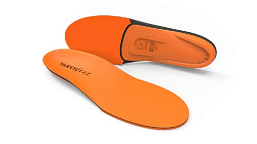 Superfeet ORANGE Insoles, High Arch Support and Forefoot Cushion Orthotic Insole for Anti-fatigue, Unisex, Orange, Medium/D: 8.5-10 Wmns/7.5-9 Mens