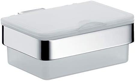 Emco Loft 53900101 - Caja para toallitas húmedas (plástico, 155,5 mm de Ancho), Color Blanco y Cromado: Amazon.es: Hogar