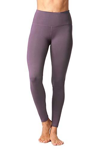 90 Degree By Reflex - High Waist Power Flex Legging – Tummy Control - Mulberry - Large
