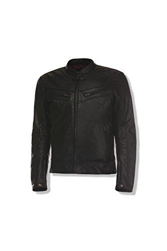 Olympia Sports Men's Vincent Leather Jacket (Black, XX-Large)