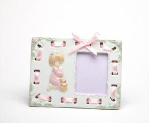 (Cosmos 10139 Fine Porcelain Praying Girl Picture Frame, 6-1/8 by 4-5/8-Inch)
