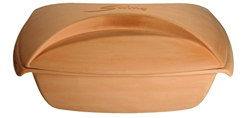 Roaster Clay (Romertopf by Reston Lloyd Swing Series Natural Glazed Clay Cooker, Large, 4 Quart)