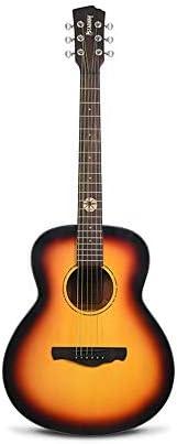 ギター 初心者の男の子と女の子の初心者自習ギターアコースティックギター36インチ木製ギター アコースティックギター (Color : Sunset yellow, Size : 36 inches)