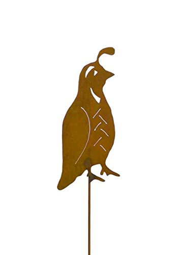 Quail Metal Garden Stake, Lawn, Garden, Patio Decor, Yard Art
