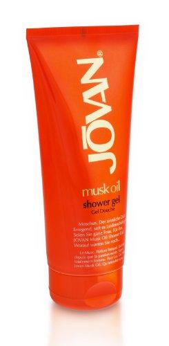 3 x Jovan musk oil showergel/ Duschgel für Frauen/ je 200ml/ sanfte und pflegende Reinigung/ sinnlich betörender Duft/ für Women