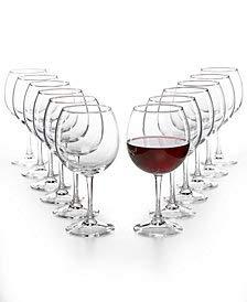 Martha Stewart Essentials 12-Pc. Red Wine Glass Set