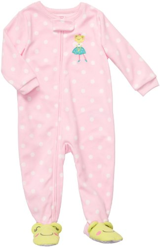 Frog Footed Sleeper Girls (Carter's Toddler Footed Fleece Sleeper - Cheery Frog-5T)