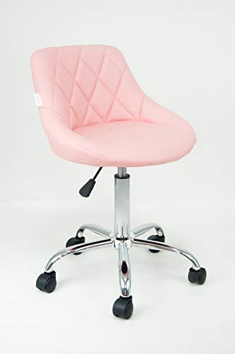 Stil Sedie - Poltrona Sedia Cameretta Girevole Modello GAIA Sedia da  ufficio base in metallo cromato con ruote, da scrivania con schienale e ...