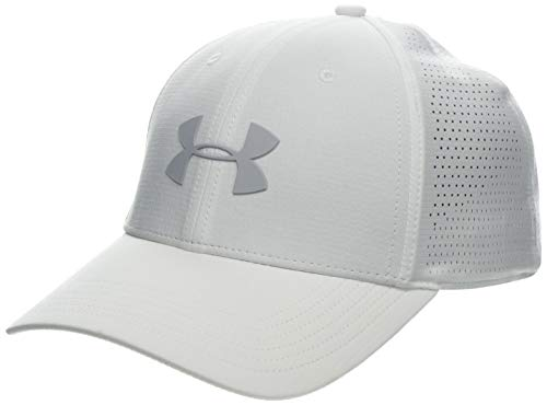 Under Armour Driver Cap 3.0, White/Mod Gray, One Size (White Camo Under Armour Hat)