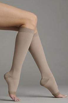 Juzo 2062 Silver Knee Highs 30-40mmHg (Regular-5 (V)-Open Toe)