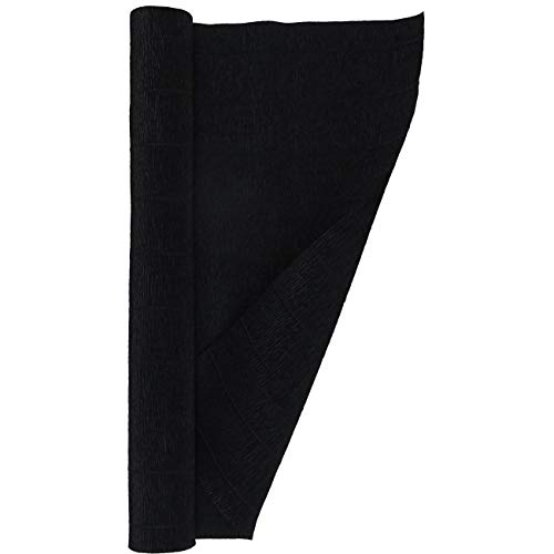 Crepe Paper Roll, Heavy Italian 180 g, 13.3 sqft, Black
