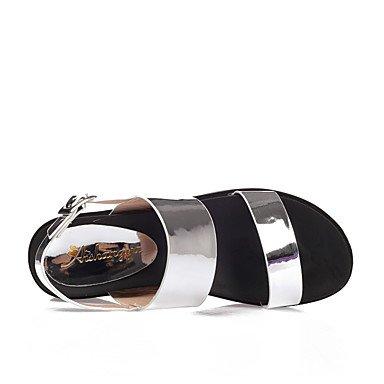 LvYuan Mujer-Tacón Cuña Media plataforma-Creepers Confort Talón Descubierto-Sandalias-Boda Exterior Oficina y Trabajo Vestido Informal Fiesta y Black