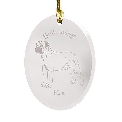 GiftsForYouNow Dog Breed Personalized Glass Christmas Ornament, Bullmastiff