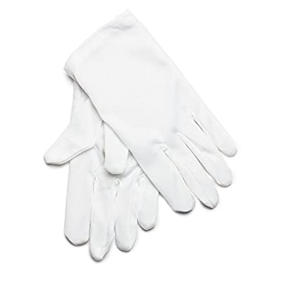 Rubie's Costume Co. Short Cotton Child White Gloves, One Size, Multicolor: Toys & Games