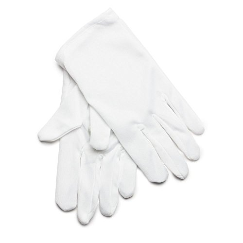 Rubie's Costume Co. Short Cotton Child White Gloves, One Size, -