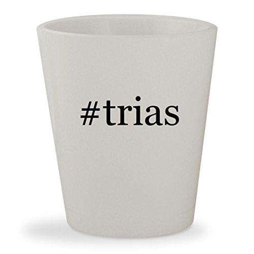 #trias - White Hashtag Ceramic 1.5oz Shot Glass (1 Review Girls 2 Cup)