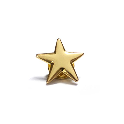 ((Price/100PCS) ALICE Gold Star Lapel Pin, Size 3/4