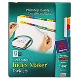 * Index Maker Dividers, Multicolor 12-Tab, Letter, 5 Sets/Pack