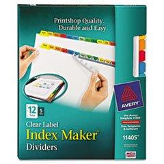 * Index Maker Dividers, Multicolor 12-Tab, Letter, 5 Sets/Pack by MotivationUSA