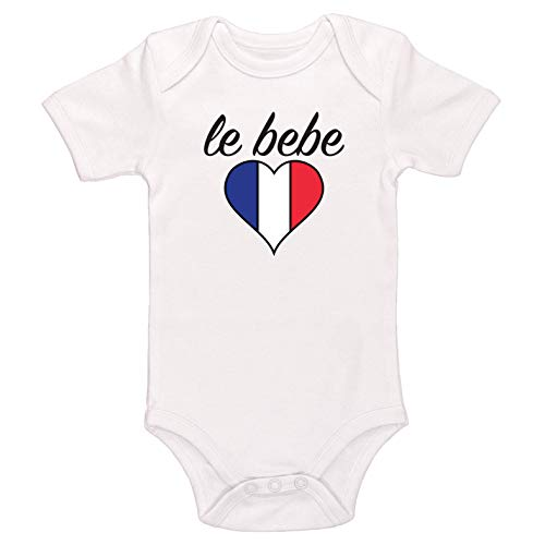 Kinacle Le Bebe Baby Bodysuit (18-24 Months, White)