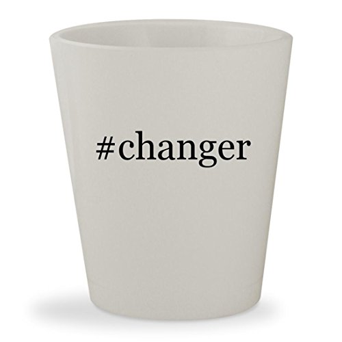 #changer - White Hashtag Ceramic 1.5oz Shot Glass