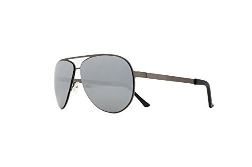 Joes Jeans Men's Jj 7018 Fashion Aviator Sunglasses, Satin Gunmetal, 137 - Joe's Sunglasses Jeans