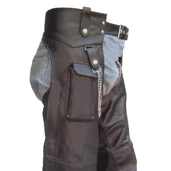 Leather Motorcycle Chaps For Men - 9