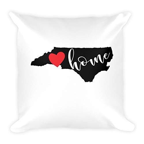 Athena Bacon North Carolina Home State Love Square Pillowcase