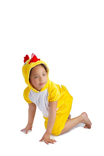 Children's Animal Clothing Halloween Cosplay Jumpsuitstage Costumes,Yellow Chicken,100cm -